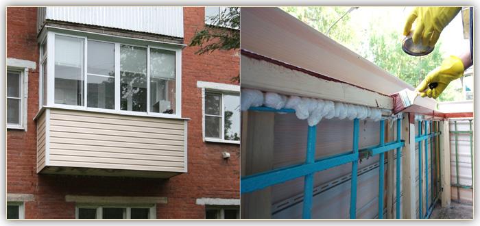 Особенности обшивки балкона сайдингом. студия паркетных рабо.