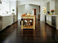 Бамбуковое напольное покрытие в кухню